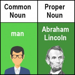 Abraham Lincoln is a proper noun.