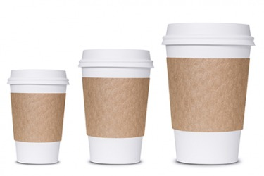 The proportion of coffee to cup remains the same no matter what size you order.