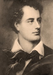 The British poet Lord Byron became famous for his romantic prosody.