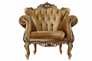 She likes to refurbish provincial chairs into one of a kind furniture pieces.