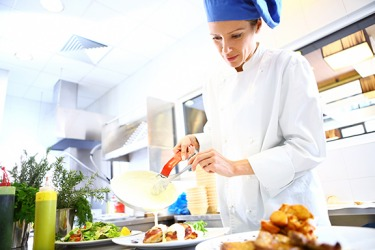 The chef's prowess in the kitchen is admired by the regular patrons at the restaurant.