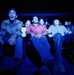 The proximate seats at the movie theater were saved for his friends.