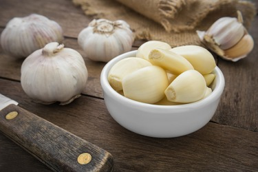 Garlic has a pungent odor that lingers in the kitchen all day.