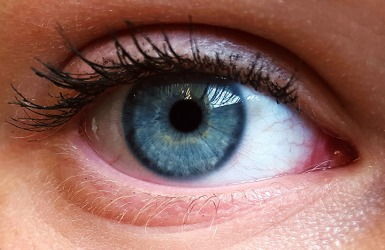 The pupil of the eye gets smaller in bright sunlight.