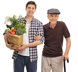 Scott is the quintessence of altruism because he drives his elderly neighbor to the market every week.