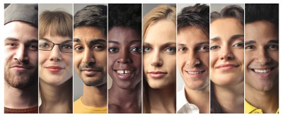 People of many races and ethnicities