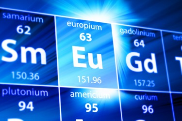 Europium, one of the rare earth metals, was discovered in 1901.