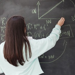 The Advanced Physics class is recondite for the average student, however, Katy excels in the course.