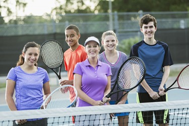 The tennis club is one of the recreational activities that students can join at the school.