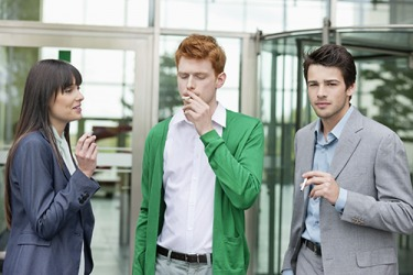 Steve was disappointed in himself when he regressed to his former bad habit of smoking cigarettes after his coworkers invited him to join them on smoke breaks.