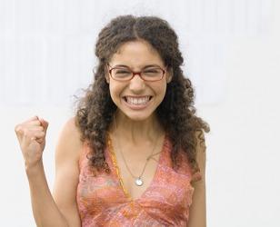 Eliana rejoiced when she aced the Chemistry exam.