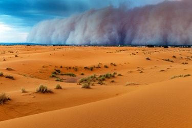 The sandstorms are relentless in the Saharan Desert.