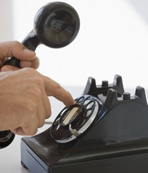 The rotary phone is a remnant of telephone communication that is obsolete in today's technology.