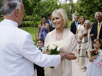 Richard and Barbara recreated their ceremony in the park as part of the renewal of their wedding vows on their 40th anniversary.