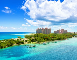 The Atlantis Paradise Island Hotel in the Bahamas is renowned for its luxury and plethora of activities on site.