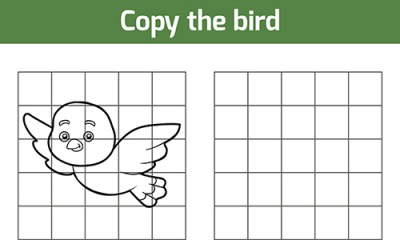 Can you replicate this bird drawing?