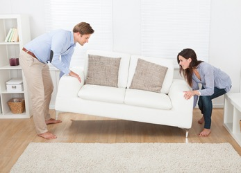 Irene had a great idea to reposition the couch to make the apartment feel larger.