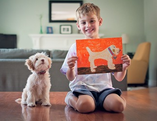 Kyle created a representation of his new puppy Lola.