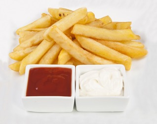 Every time Mark orders french fries at a restaurant, he requests mayonnaise as a dipping sauce too.