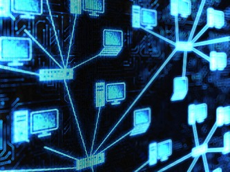 The reseau shows the connection of the computer networks.