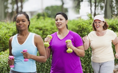 The group of friends in the neighborhood resolve to stick to their routine of walking for thirty minutes every day.