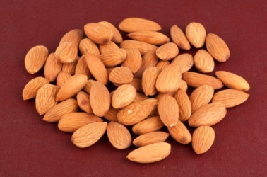 Shelled almonds.
