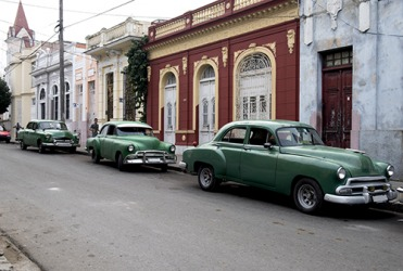Cuban people have been resourceful by fixing and maintaining older model cars.
