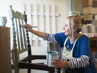 Natalie's furniture restoration business is successful because her skillset is unique.