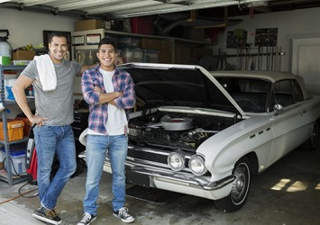 Hector and his son Omar restore classic cars together because they both share a passion for it.