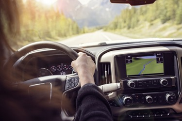 Most rental cars are retrofitted with GPS so that travelers are less likely to get lost.