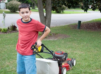 Since his allowance didn't pay for everything that Lucas wanted, he started a lawn mowing business in his neighborhood to increase his revenue.