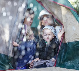 The Martins had to revise their camping activities as a result of the rain.