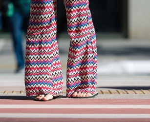 There has been a revival of bell bottoms in the style of palazzo pants that are worn by women of all ages.