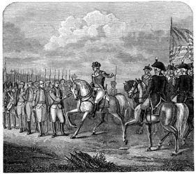 British General Cornwallis surrenders to General George Washington and brings the American Revolutionary War to an end.