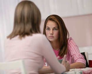 Hannah got annoyed and felt disrespected when her mother asked her rhetorical questions about her grades.