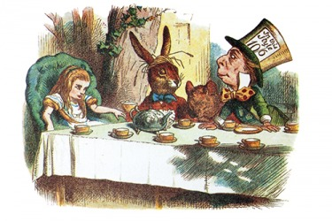 The Mad Hatter often spoke in riddles in the story