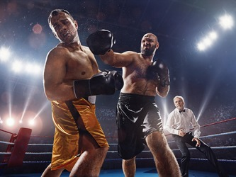 Spectators claimed the boxing fight was rigged because the knockout punch looked like it had been staged.