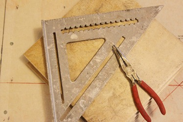 A T-square is a good tool to have for home improvement projects where right angles are needed such as tile work.
