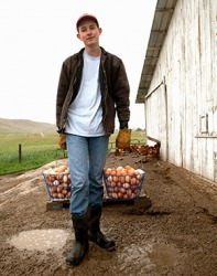 Kyle needs to rise early in order to finish his chores on the farm before school.