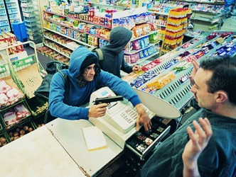 The criminals will most likely be caught because the robbery was recorded on the convenience store cameras.