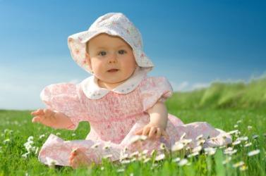 A bonny little baby girl.