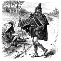 The story of Robin Hood was about a roguish hero who robbed from the rich and gave to the poor.