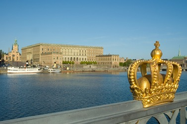 The royal palace in in Stockholm, Sweden is built in the baroque style and has three museums.