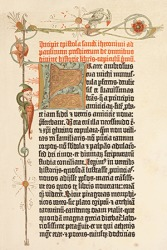 An example of a rubric in an engraving page of the Gutenberg Bible printed in 1455.