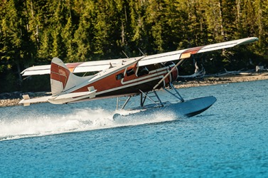 A seaplane has rudders for the air as well as ones to help steer it in the water.