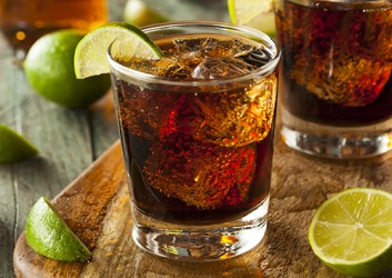 A popular rum cocktail is a Cuba Libre which is made with cola, rum and a squeeze of lime over ice.