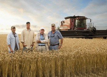 Three generations of the Rogers family have farmed their wheat fields in rural Kansas.