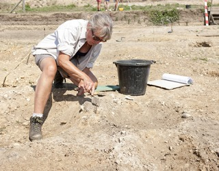 The professor took a sabbatical leave over the summer to volunteer at the archaeological dig site.