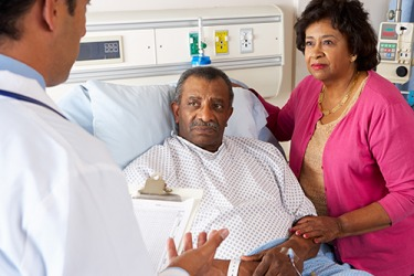 Harold and Verna listened carefully as the surgeon explained sagely the results of the medical test.