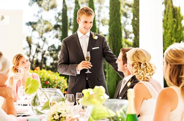The salience of the best man's toast to the bride and groom was thoughtful and sincere.
